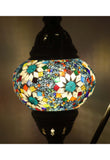 Handcrafted Mosaic Tiffany Curves/ Swan Table Lamp  068