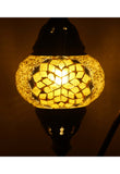 Handcrafted Mosaic Tiffany Curves/ Swan Table Lamp  069