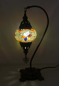 Handcrafted Mosaic Tiffany Curves/ Swan Table Lamp  070