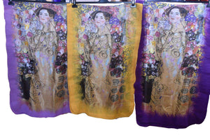 Felt Edge Digital Large Scarve  Klimt -1