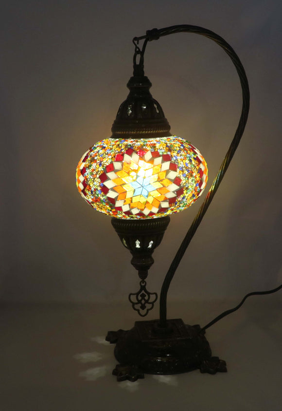 Mosaic Tiffany Curve Table Lamps No 3 Glass 024