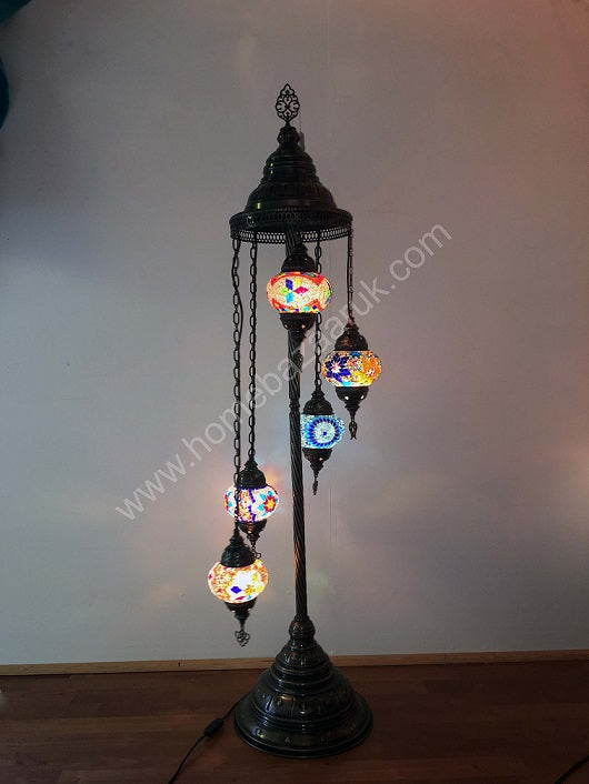Mosaic Tiffany Floor Lamp -5 Glass