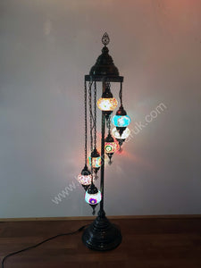 Mosaic Tiffany Floor Lamp -7 Glass