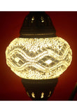 Handcrafted Mosaic Tiffany Curves/ Swan Table Lamp  071