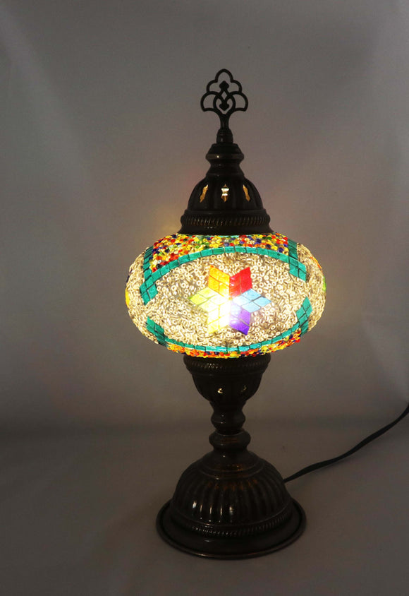 Handcrafted Mosaic Tiffany Table Lamp TMLN3-021