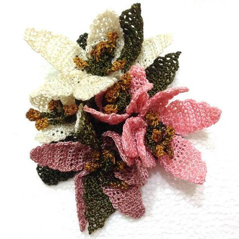 Handcrafted crochet brooches handcrafted shopping sakura flowers pink cherry blossom hand crochet brooch flower pin gift for mom mightylinksfo