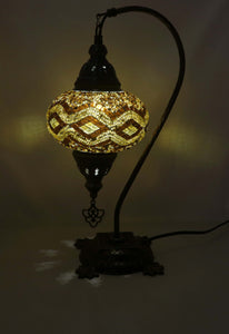Mosaic Tiffany Curve Table Lamps No 3 Glass 010