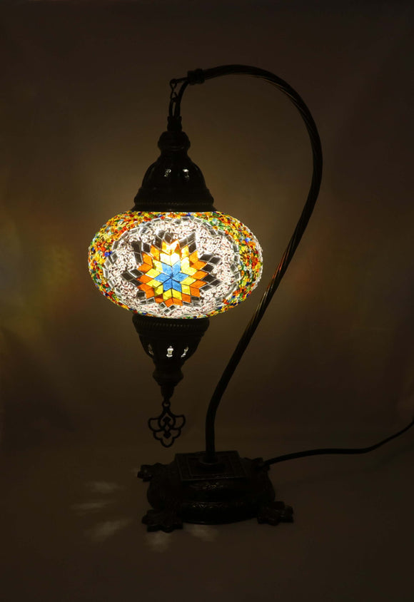 Mosaic Tiffany Curve Table Lamps No 3 Glass 012