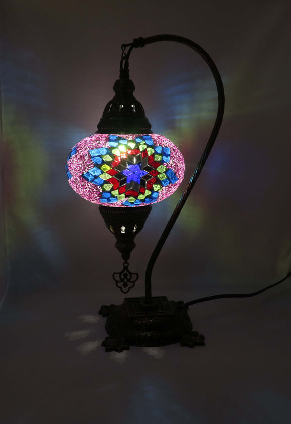 Mosaic Tiffany Curve Table Lamps No 3 Glass 013