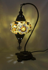 Mosaic Tiffany Curve Table Lamps No 3 Glass 019