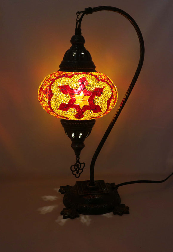 Mosaic Tiffany Curve Table Lamps No 3 Glass 001