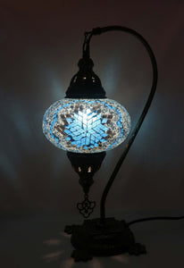 Mosaic Tiffany Curve Table Lamps No 3 Glass 002
