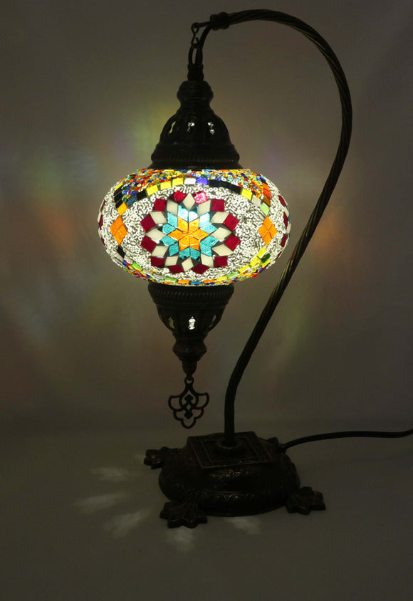 Mosaic Tiffany Curve Table Lamps No 3 Glass 003