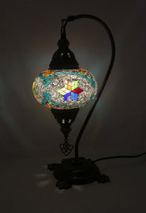 Mosaic Tiffany Curve Table Lamps No 3 Glass 004