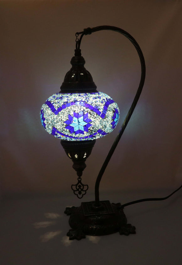 Mosaic Tiffany Curve Table Lamps No 3 Glass 006