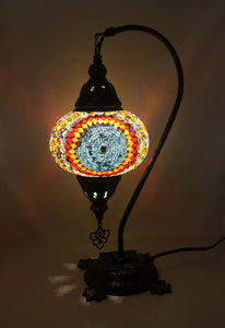 Mosaic Tiffany Curve Table Lamps No 3 Glass 008
