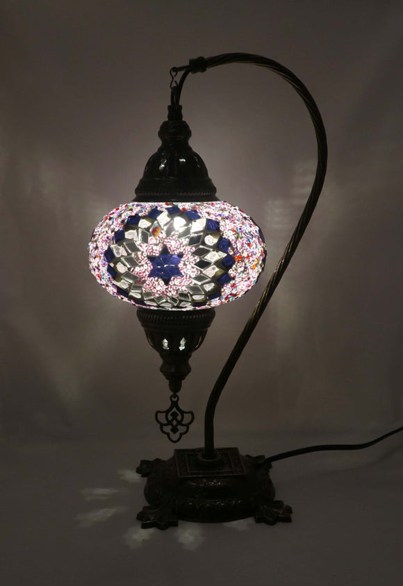 Mosaic Tiffany Curve Table Lamps No 3 Glass 009