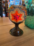 Mosaic Candle Holder with leg