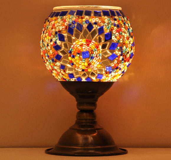 Mosaic Candle Holder 001 -Flora