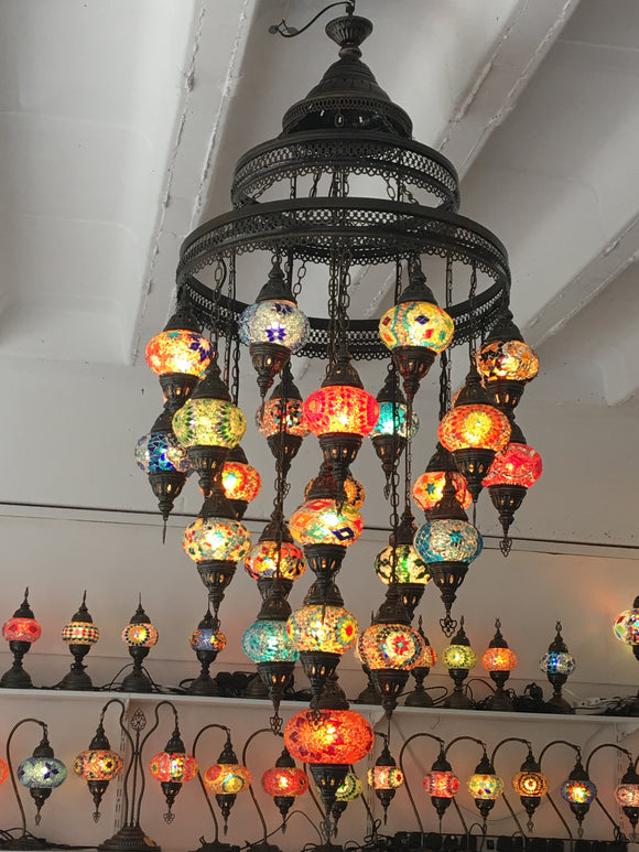 Mosaic Ceiling Light with 25 No 2 Glass