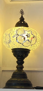 Mosaic Tiffany Table Lamps No 5 White Glass