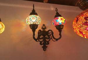 Mosaic Tiffany Dual Wall Lamps