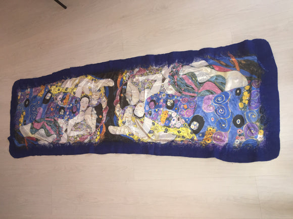 Felt Large Scarves The Maiden (Klimt)