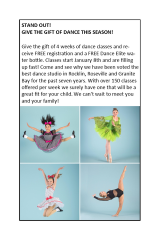 Dance Elite Pee Wee's Holiday Special! - (Ages 3 1/2 - 5)