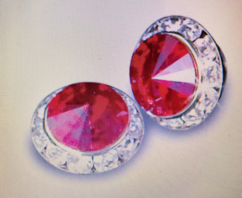 Red Rhinestone Earrings