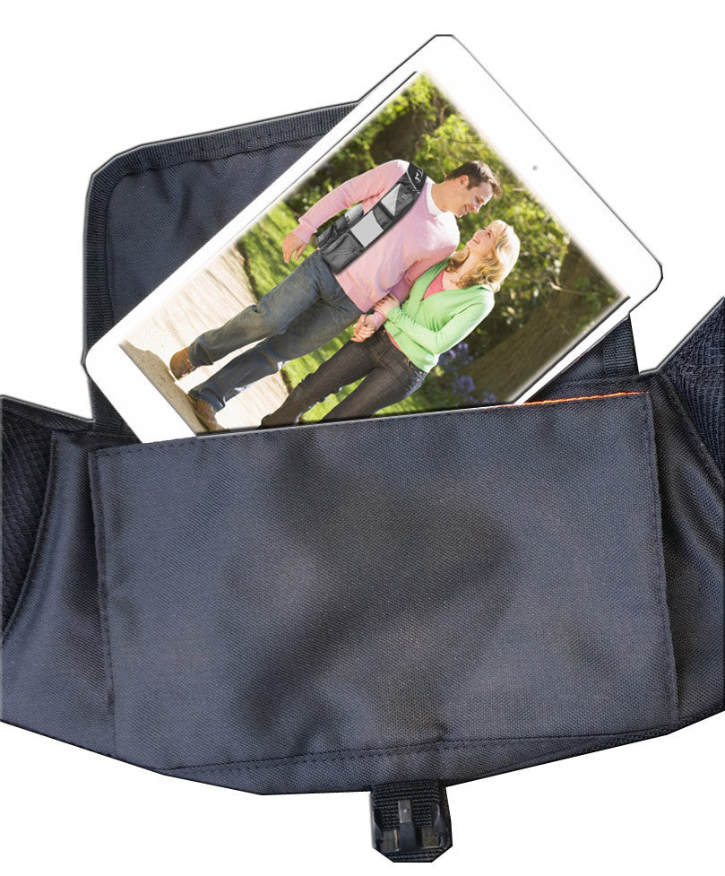 CrossTab - Navy / Gray Carry Your Tablet, Mobile & Your Other Essentials In Style On The Go!