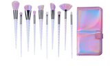 Glam Sis 10Pc Rainbrow Makeup Brush Set + Bag - DGCouture™