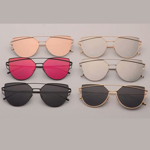 Cat Eyez Mirror Lens Aviator Sunglasses - DGCouture™