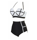 Matrix Retro Highwaisted Two Piece Set - DGCouture™