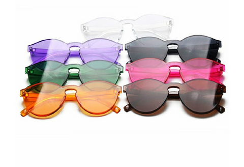 Candy Shop Multi Color Transparent Frames- DGCOUTURE