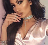 Boss Up Chunky Rhinestone Choker Necklace - DGCouture™