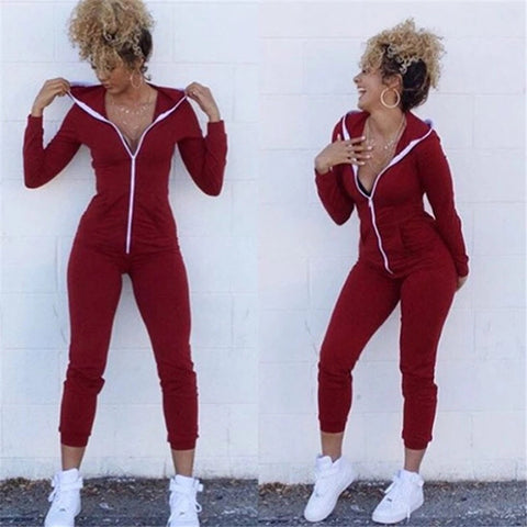Run It Up Hoodie Jumpsuit - DGCouture™