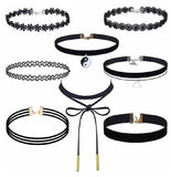 8 Pcs Choker Necklace Set - DGCouture™