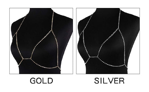So Icey Diamond Crystal Bra Chain - DGCouture™