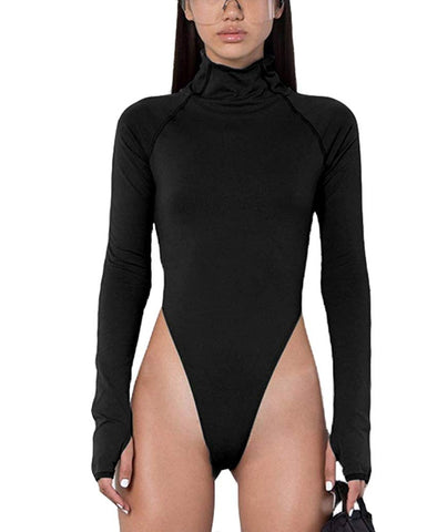 Motorsport High Neck Thong Bodysuit