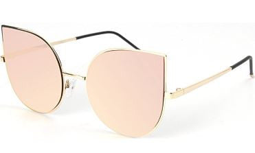 Melrose Cat Eye Mirrored Flat Lenses Ultra Sunglasses