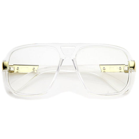 """Clear Eyes"" Clear Lens Gold Detailed Frames - DGCouture - 1"