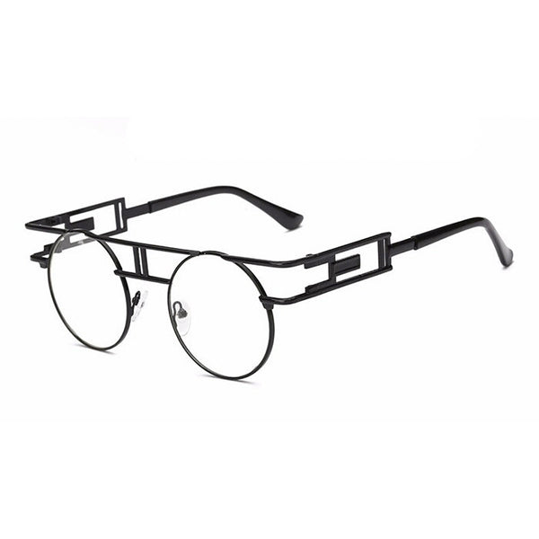 Clearly Clear Lens Vintage Rimless Gold Spectacles - DGCouture - 5