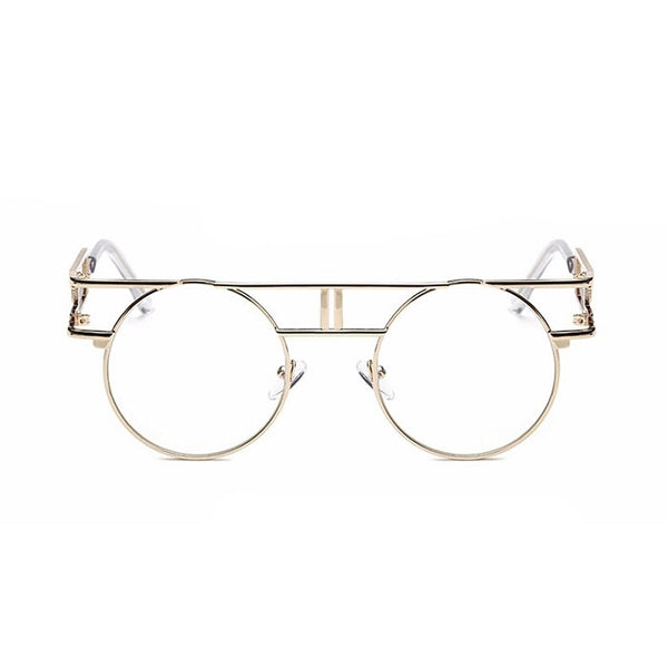 Clearly Clear Lens Vintage Rimless Gold Spectacles - DGCouture - 3
