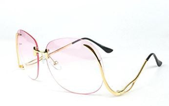 """Crystal Clear"" Large Classic Vintage Clear Rimless Glasses - DGCouture - 4"