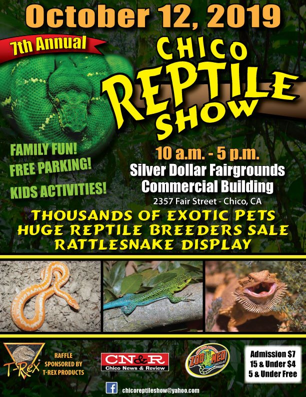 Come see us @ the Chico Reptile Show!