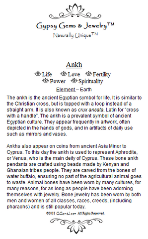 Gypsy Gems & Jewelry™ Ankh Facts