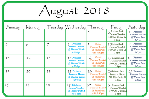 Gypsy Gems & Jewelry August 2018 Calendar of Events GGandJ.com