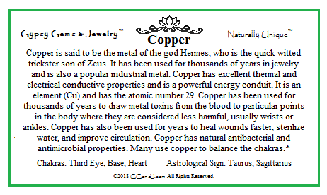 Copper fun facts on GGandJ.com