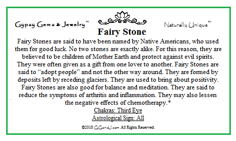 Gypsy Gems & Jewelry Fairy Stone Facts