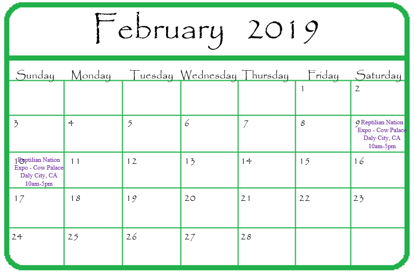 Gypsy Gems & Jewelry February 2019 Events Calendar